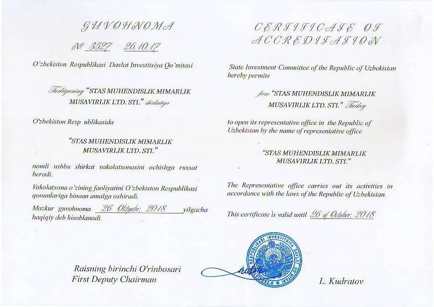 Certification of Accreditation